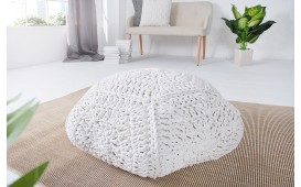 Pouf di design BOHO STAR WHITE