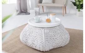Designer Sitzhocker BOHO STAR WHITE NATIVO™ Möbel Schweiz