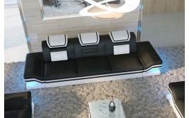 Canapé Design 3 places ROUGE avec éclairage LED et port USB