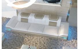 Divano di design a 3 posti ROUGE con illuminazione a LED  e presa USB
