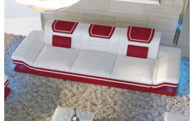 3 Sitzer Leder Sofa ROUGE mit LED Beleuchtung & USB Anschluss NATIVO™ Möbel Schweiz