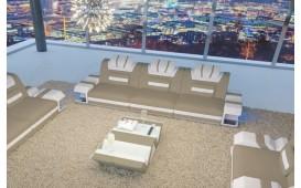3 Sitzer Sofa MYSTIQUE mit LED Beleuchtung & USB Anschluss