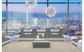 Divano di design a 3 posti MYSTIQUE con illuminazione a LED  e presa USB