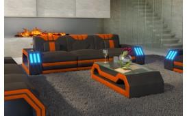 Divano di design a 3 posti CLERMONT con illuminazione a LED