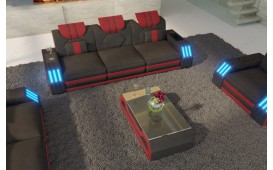 Canapé Design 3 places CLERMONT avec éclairage LED