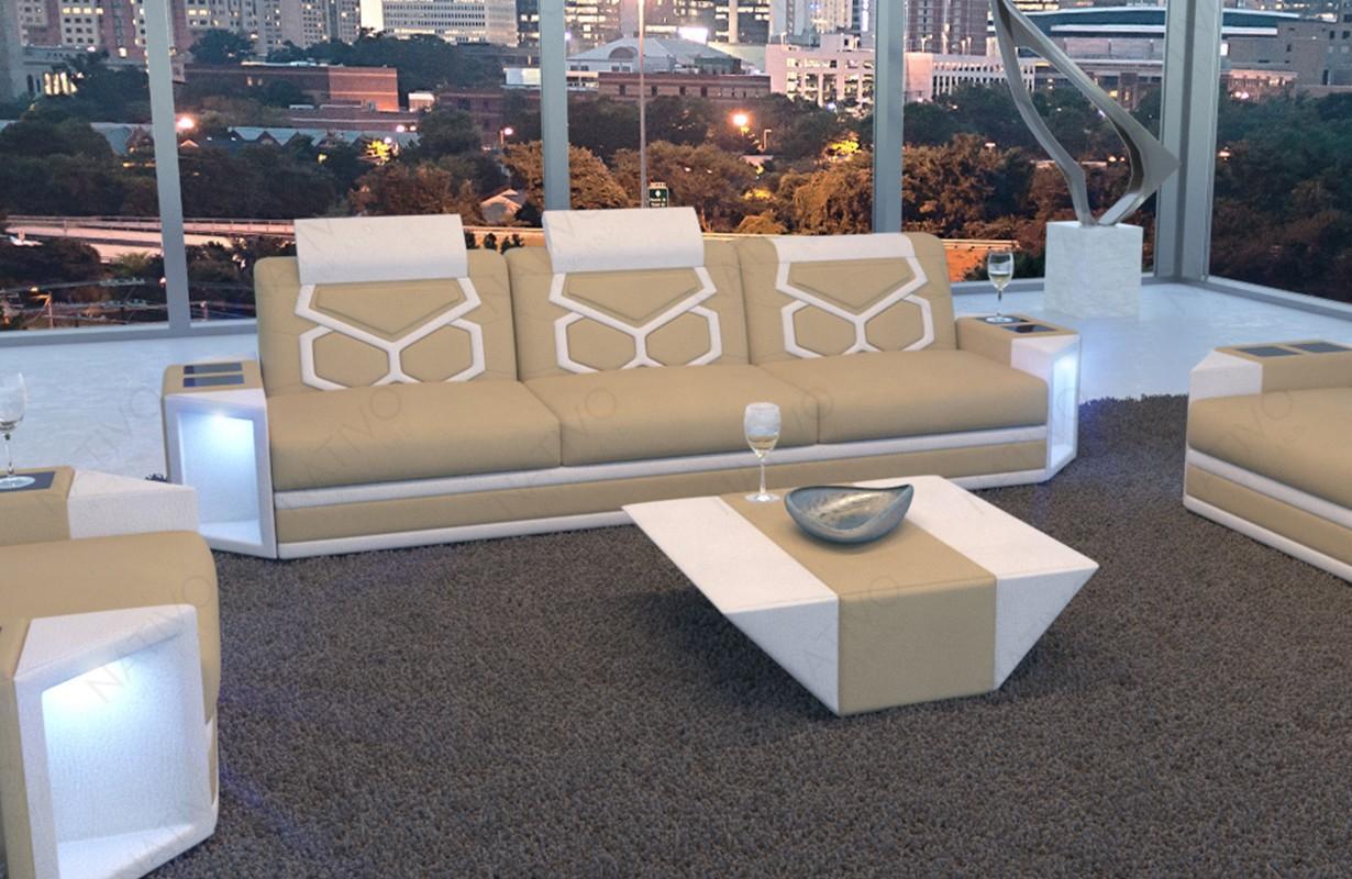 Wunderschön Moderne Sofas Günstig Referenz Von 3 Sitzer Sofa Aventador Mit Led Beleuchtung