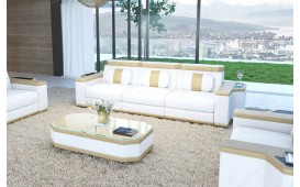 Divano di design a 3 posti CESARO con illuminazione a LED