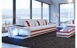 Divano di design a 3 posti CAREZZA con illuminazione a LED