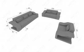 Canapé Design 3 places MIRAGE avec éclairage LED