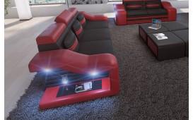 Divano in pelle a 3 posti MIRAGE con illuminazione a LED