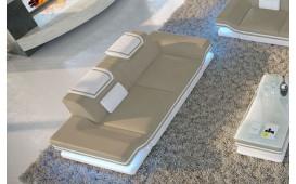 2 Sitzer Sofa ROUGE mit LED Beleuchtung & USB Anschluss