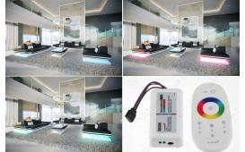 2 Sitzer Sofa ROUGE mit LED Beleuchtung & USB Anschluss NATIVO™ Möbel Schweiz
