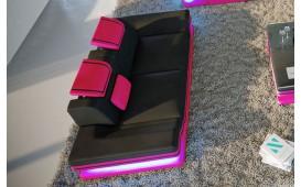 Divano di design a 2 posti ROUGE con illuminazione a LED  e presa USB