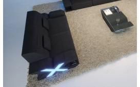 Canapé Design 2 places MYSTIQUE avec éclairage LED et port USB