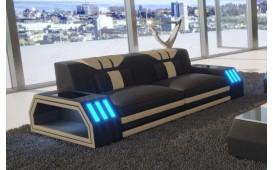 Canapé Design 2 places CLERMONT avec éclairage LED