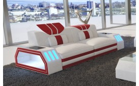 Divano di design a 2 posti CLERMONT con illuminazione a LED