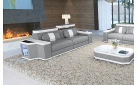 Canapé Design 2 places CESARO avec éclairage LED