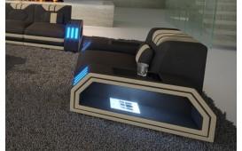 Poltrona di design CLERMONT con illuminazione a LED