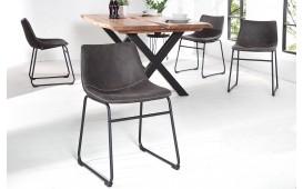 2 x Chaise Design QUENTIN DARK