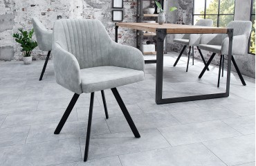 Sedia di design LECCE LIGHT GREY