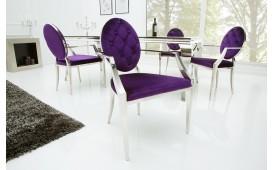 Chaise Design ROCCO LILA II AVEC LES ACCOUDOIRS