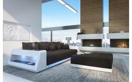 BIG Sofa VICE mit LED Beleuchtung + Hocker (Schwarz / Weiss) Ab lager