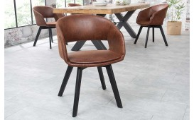 2 x Sedia di design NORTH BROWN