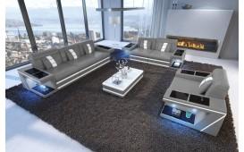 Canapé Design CAREZZA 3+2+1 avec éclairage LED