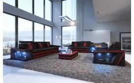 Divano di design CAREZZA 3+2+1 con illuminazione a LED