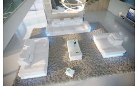 Canapé Design ROUGE 3+2+1 avec éclairage LED & port USB