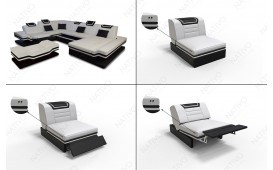 Designer Sofa ROUGE 3+2+1 mit LED Beleuchtung & USB Anschluss NATIVO™ Möbel Schweiz