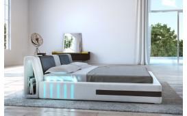 Designer Lederbett VENUM mit LED Beleuchtung (Weiss / Schwarz) ab lager NATIVO™ Möbel Schweiz