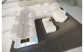 Designer Sofa CLERMONT XXL mit LED Beleuchtung (Weiss) ab lager  NATIVO™ Möbel Schweiz