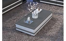 Tavolino di design CAREZZA ( bianco/ grigio scuro ) IN STOCK