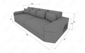 BIG Sofa SKYLINE con illuminazione a LED