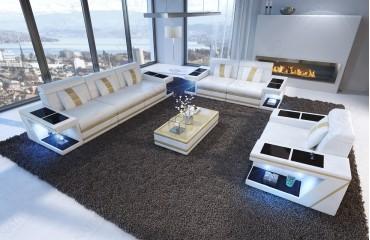Designer Sofa CAREZZA 3+2+1 mit LED Beleuchtung NATIVO™ Möbel Schweiz