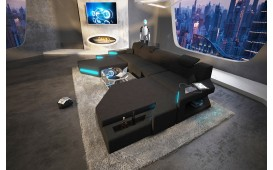 Designer Sofa NEMESIS XXL DUO mit LED Beleuchtung & USB Anschluss NATIVO™ Möbel Schweiz