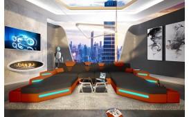 Divano di design NEMESIS XXL DUO con illuminazione a LED e presa USB