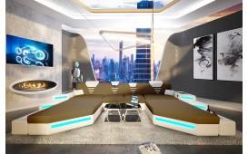Canapé Design NEMESIS XXL DUO avec éclairage LED & port USB