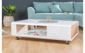 Designer Couchtisch COLUM WHITE 110 cm NATIVO™ Möbel Schweiz