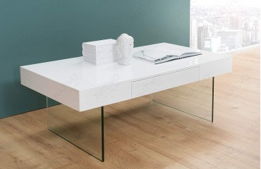 Tavolino di design BALANCE WHITE 110 cm