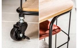 Tavolino di design CAGE BLACK OAK ROLL