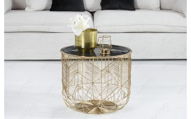Table basse Design CAGE GOLD 42 cm