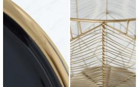 Tavolino di design CAGE GOLD 42 cm