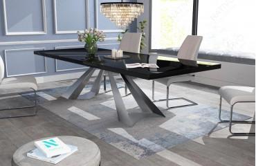 Tavolo in legno massello CAMELOT di alta lucentezza NATIVO mobili ...