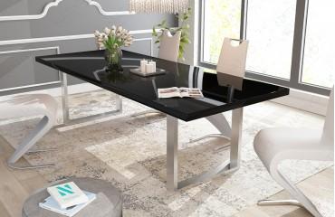 Tavolo in legno MARLIN alta lucentezza NATIVO mobili sala da pranzo