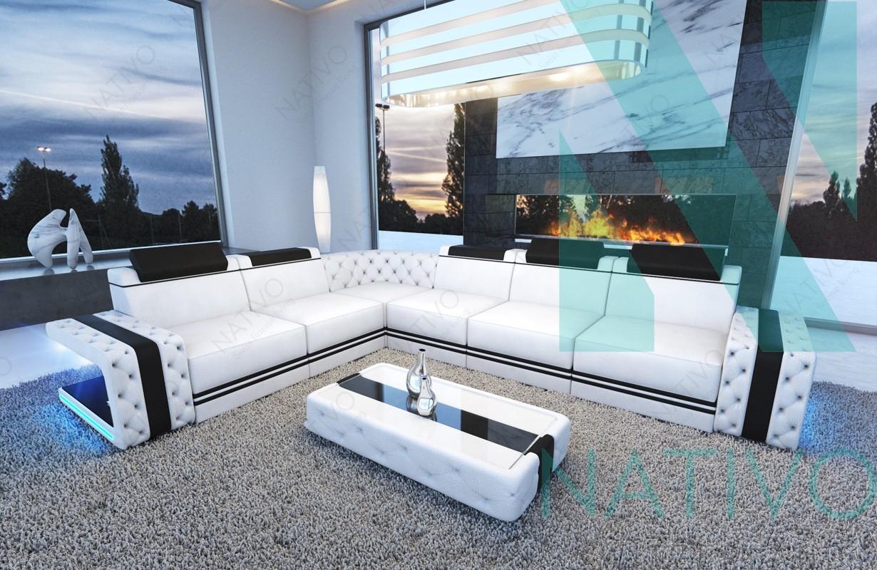 ledersofa imperial corner bei nativo m bel schweiz online. Black Bedroom Furniture Sets. Home Design Ideas