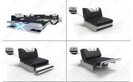 Canapé Design MYSTIQUE CORNER U FORM avec éclairage LED & port USB