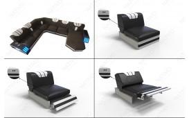 Designer Sofa CLERMONT 3+2+1 mit LED Beleuchtung NATIVO™ Möbel Schweiz