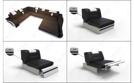 Designer Sofa HERMES 3+2+1 mit LED Beleuchtung NATIVO™ Möbel Schweiz